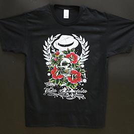Black T-shirt- ի տպագրական նմուշը A1 թվային տեքստիլ տպիչով WER-EP6090T