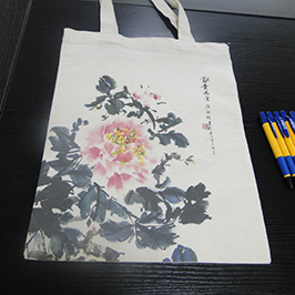 Canvas տոպրակի տպման նմուշը A2- ի T-shirt տպիչով WER-D4880T